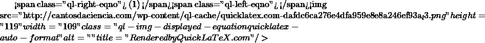 "<span class=""ql-right-eqno""> (1) </span><span class=""ql-left-eqno"">   </span><img src=""http://cantosdaciencia.com/wp-content/ql-cache/quicklatex.com-dafdc6ca276e4dfa959e8e8a246ef93a_l3.png"" height=""119"" width=""109"" class=""ql-img-displayed-equation quicklatex-auto-format"" alt=""\begin{align*} & {{4}^{2}}-4.p.4=0 \\ & 16-16p=0 \\ & -16p=-16 \\ & p=\frac{-16}{-16}=1 \\ \end{align*}"" title=""Rendered by QuickLaTeX.com""/>"